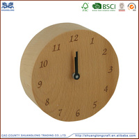 Samll digital wooden table clock for home decoration , distressed wood wall clock