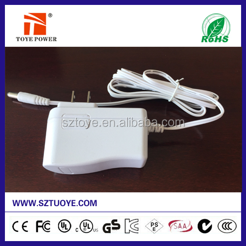 12v 1.25a ac 230v dc 12-15W power adapter from shenzhen factory