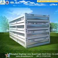 china suppliers Prefab foldable container house Nipa Huts/modular folding container homes/fold out house