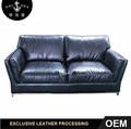 Traditional Fashion Living Room Furniture 2 Seater Leather Sofa A173