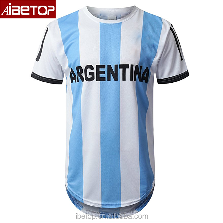 90be294dcdd 2018 Custom sublimation design best quality retro soccer jersey football  shirt argentina jersey 2017