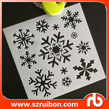Christmas Snowflake stencil,holiday reusable crafting stencil for home/wall decor,cardmaking/scrapbooking stencil plastic gift