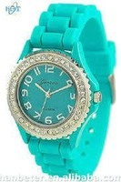 Promotional as ladies' gift of colorful silicone watch 2014