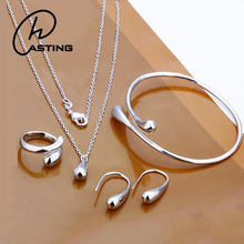 Wholesale Water Drop Shape Women Stainless Steel Jewelry Set