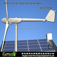 HOT ! hybrid solar wind generator 2kw,,low start wind,home,garden ,farm system,wind power1kw+ PV power 1kw