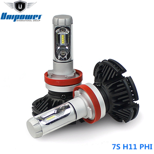 new product 12V 24V change 3 color 7S LED ip67 car headlight bulb with private label