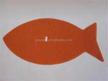 Pet Fish shape dirty door floor cat mat