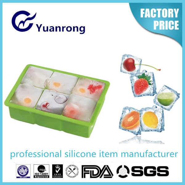 Factory Wholesale Food Grade Silicone Ice Cube Tray Ice Cube Mould