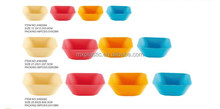 Wholesale eco-frinedly colorful bamboo fiber bowl rectangle dinnerware