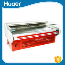 Good quality 0~10 degree meat counter display Voltage 220V/380v fish display refrigerator