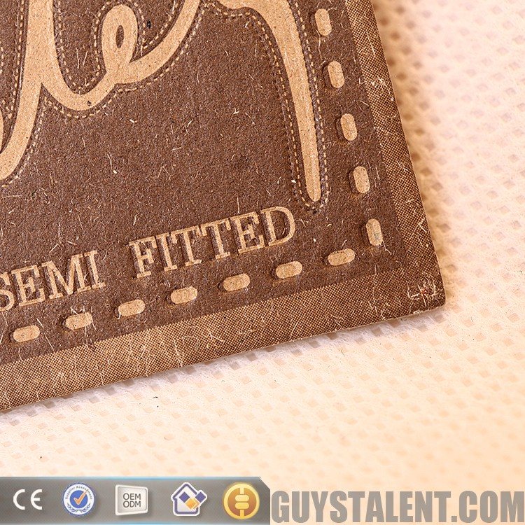 custom hand made old embossing brand name clothing label tag