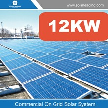 Renewable 12kW solar panel system power with solar grid tie inverter and PV Combiner box, solar cable for commercial solar power