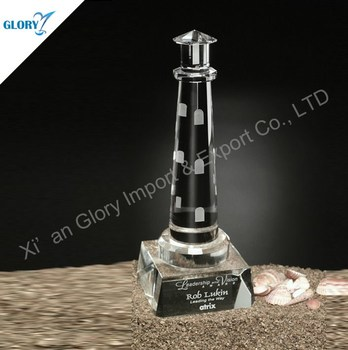 Elegant Souvenir Gifts Crystal Lighthouse