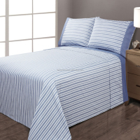 home choice yarn dye cotton bedding sheet set