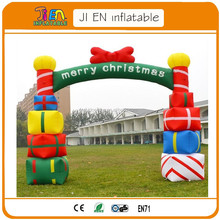outdoor decorative christmas inflatable arch,light inflatable gift box archway