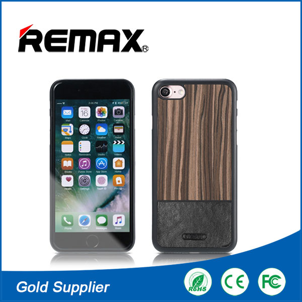 Remax Luxury Real Wood Cell Phone Case for i Phone 7