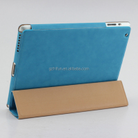 Sky blue fashion tablet cases three fold covers for ipad