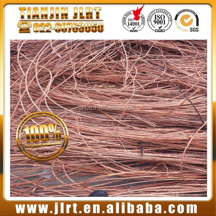supply lme metal price 99.99% pure millberry copper wire scrap in China
