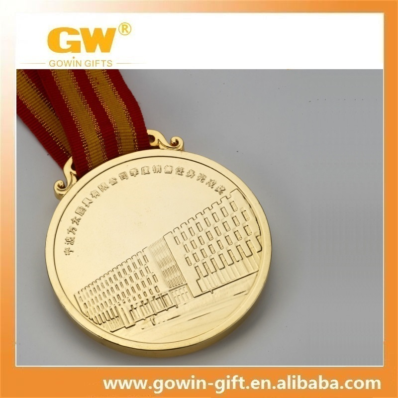 Factory custom casting engraved gold medals