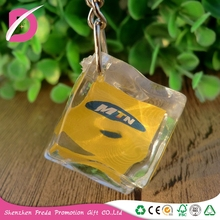 OEM Promotional Plastic acrylic keychain photo frame blank keyring/picture photo PS key chain/keyring