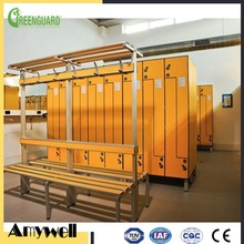 Amywell Manufacturer waterproof fireproof phenolic l shape lockers