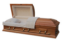 China suppliers coffins and caskets matte finish with crepe interior