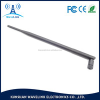 Black Wireless Wlan SMA Antenna 2.4G 5G WIFI Antenna