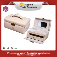 Luxury portable customize design jewellery storage box leather