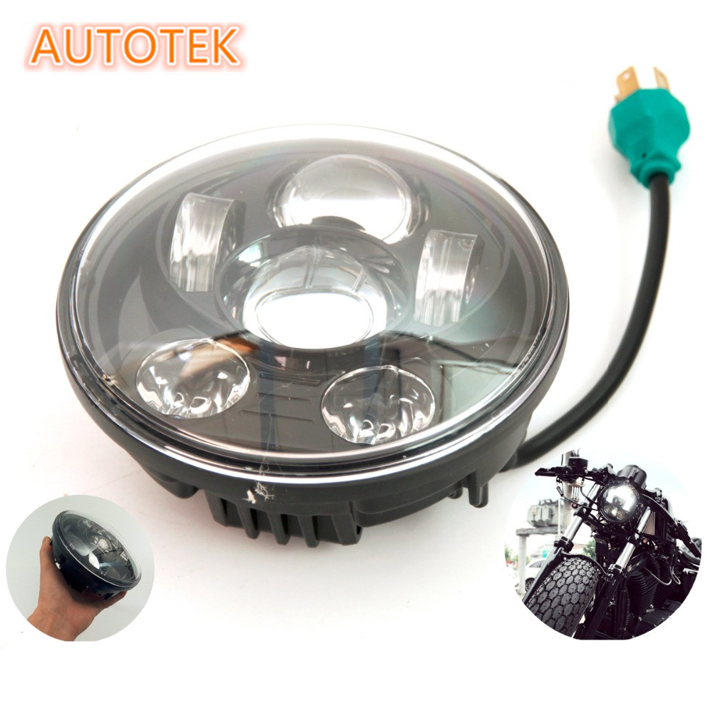 "China made harley 7"" motorcycle daymaker headlight 45w LED hi/lo headlamp for harley"