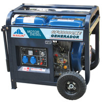 Air Cooled 2 Cylinder Battery Powered Diesel Generator 10kw