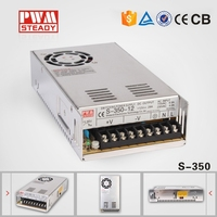 low price and factory supply 350W CE Approved 5V 50a DC Regulated led power suply S-350-5 5 volt led switching power supply