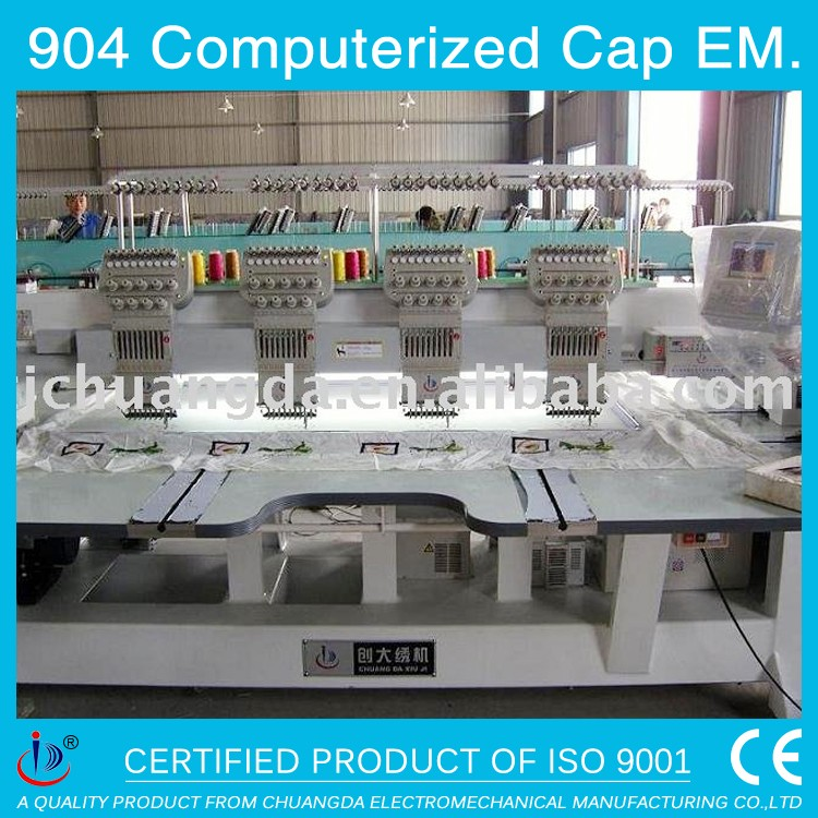 904 T-SHIRT/CAP/HAT COMPUTERISED EMBROIDERY, AUTOMATIC MELCO TAJIMA 4 HEADS FOR CLOTHES BABA COMPUTER EMBROIDERY MACHINE