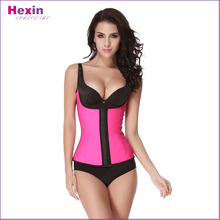 Pink Ladies Waist Trimmer Corsets With Shoulder Strap