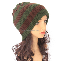 Oversized Soft Acrylic Men Women Ear Cover Knit Pattern Winter Ski Cap Wholesale