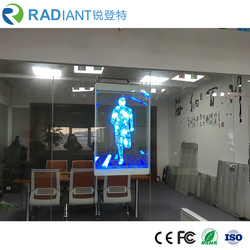 Radiant LED P3.9 small window high resolution 5500nits transparent led poster display