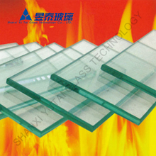 Clear high temperature ceramic glass for fireplace