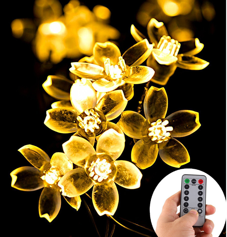 UL FCC GS Ip65 Waterproof Battery Powered Decorative Led Christmas Light with Remote Timer 16 Feet 50 LED String Light
