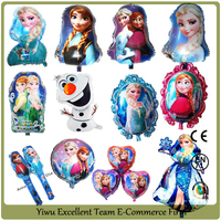 2016 Newest frozen styles Character aluminum foil helium balloon