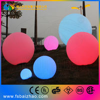 40cm plastic Waterproof Outdoor Rechargeable Remote Control color change LED ball light