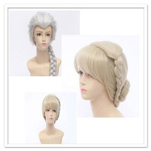 frozen elsa wig for adult snow queen Elsa Cosplay Wig golden fantasy women party halloween wigs wholesale