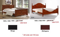 Wooden bedroom furniture , antique bedroom , solid wood bed