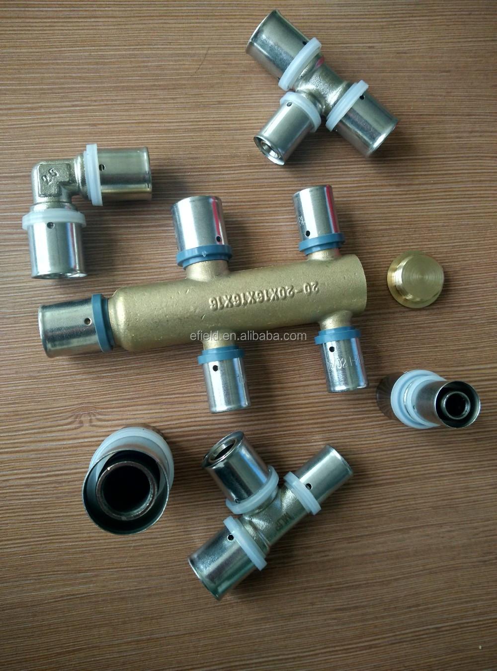 Brass fitting for pex pipe copper al