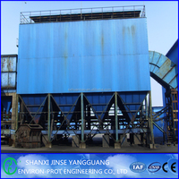 Industrial bag house pulse dust extraction system with big flow used in metallugy plant
