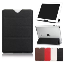 3 Folding Stand Business Straight Plug Holster Style Protective PU Leather Case Tablet Sleeve Bag for iPad Pro 9.7