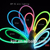 2018 multi-color flexible 2mm hard EL wire neon lighting decoration