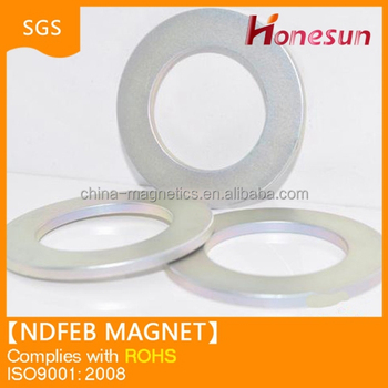 2014 permanent magnet N35SH sintered ndfeb ring magnet