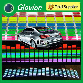 Auto car sound activated led light sticker equalizer led auto sticker led light bar sound activated sticker