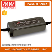 Meanwell 60W 36V 1.67A Triac Dimmable LED Driver Mean Well PWM-60-36 LED Power Supply