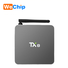 Luckyclover newest model Android tv box Amlogic s912 TX8 2GB/32GB android 6.0 Octa core Kodi 17.1 HD Smart Tv Box