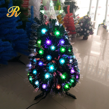 New LED Snowflake Decoration Fiber Optic Christmas Tree with Star Topper